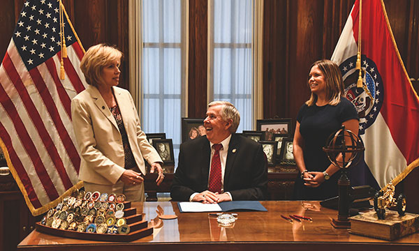 Senate Bill 185 Ronda Govenor Parson Abby