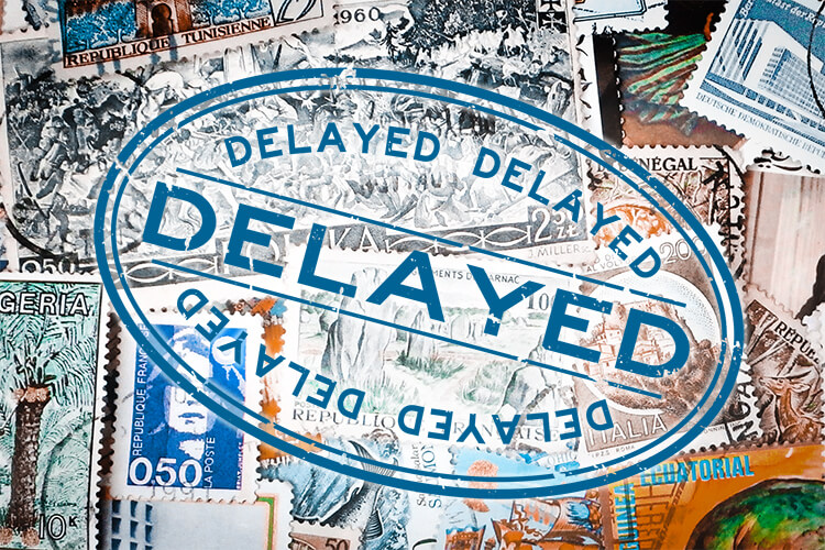 International Mail Delayed